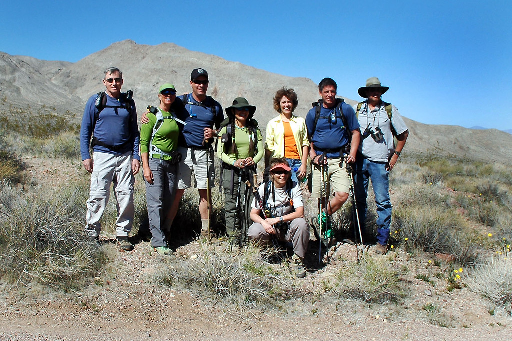 Joe(me), Sooz, Chip, Cori, Robin, Kathy, Tom B and Tom G. <br /> <br /> Kathy was still recovering from a broken leg which happened last month on Nichols Peak, so she'll being hanging out while we hike Smith.