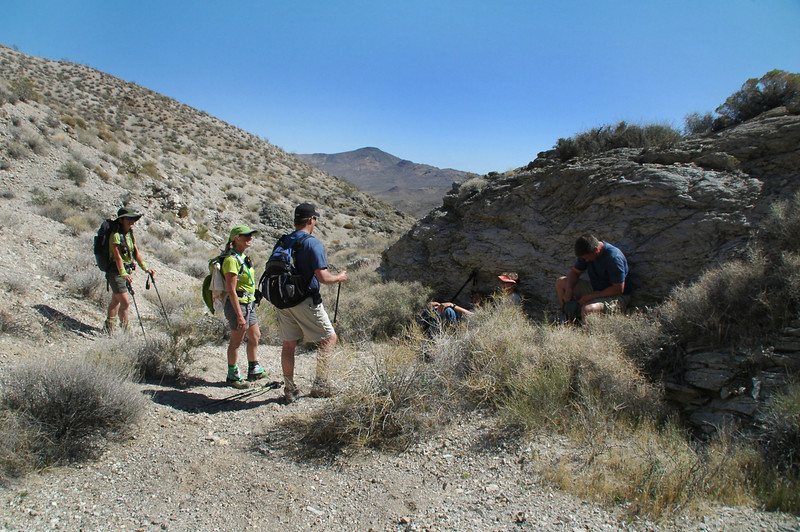 I was hiking slow and caught up to the others taking a break just past the start of the canyon.