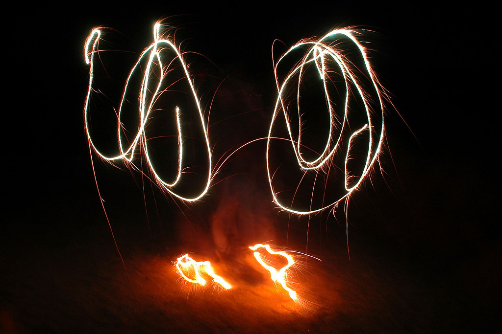 Tom G again, this time with sparklers added on the feet.