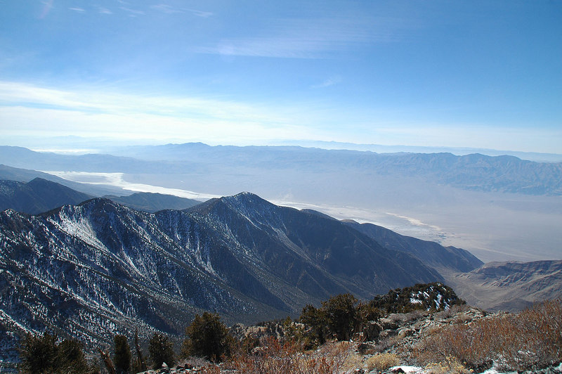 The south end of the Panamint Valley to the southwest.