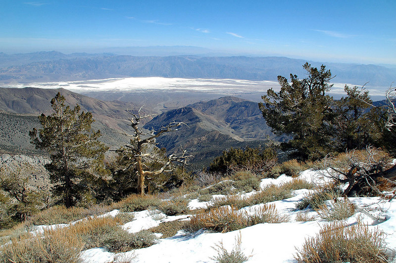 View to the east looking down into the Badwater Basin.