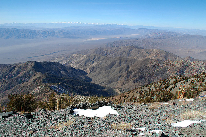 North end of the Panamint Valley with the snow covered Sierra in the distance.