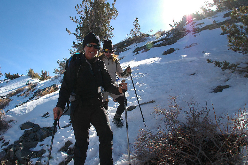 Sooz and Jenni. We took a different route off the peak to the ridge.