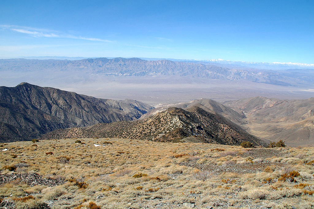 Looking west into the Panamint Valley and Argus Range.
