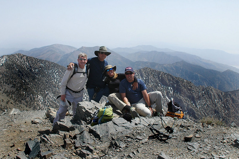 Me, Tom, Sooz and Chip on Telescope Peak at 11,049 feet, the highest point in Death Valley.
