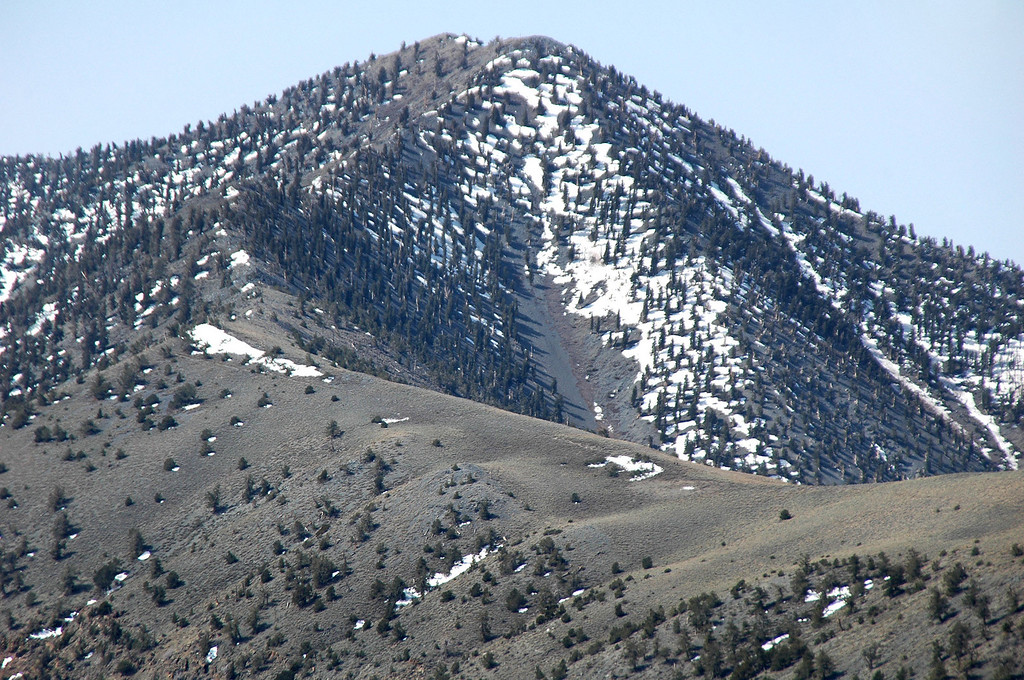 Zoomed in on Telescope Peak.
