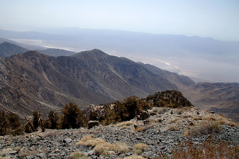 View to the southwest at the southern end of the Panamint Valley.