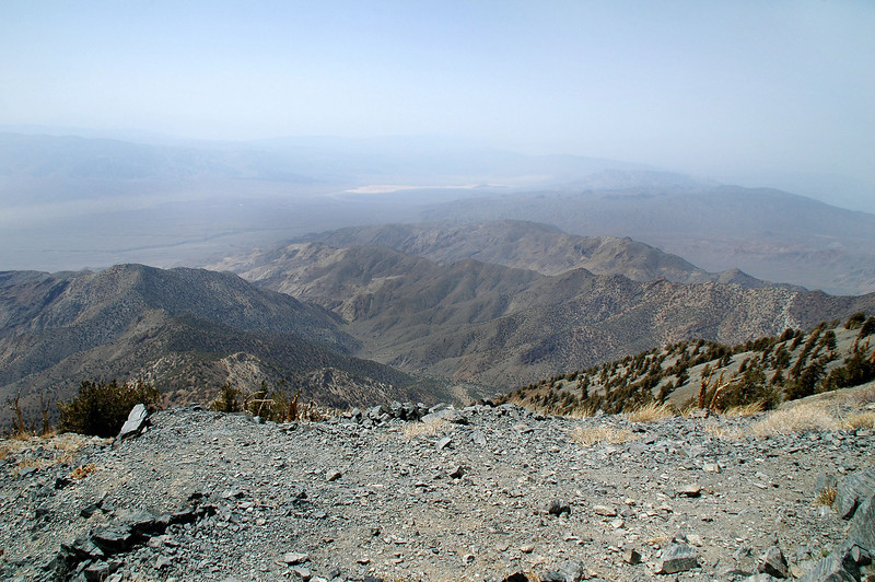 To the northwest at the northern end of the Panamint Valley and dry lake bed that Hwy 190 passes through.