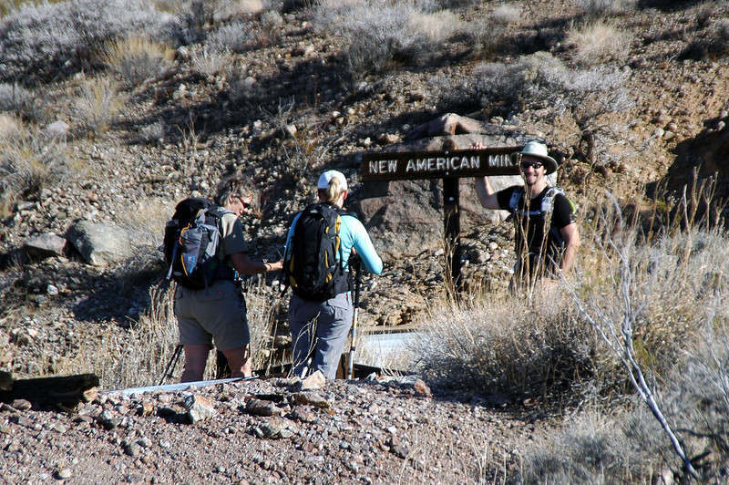 As we were about to start the hike out, Dave found the sign to the mine. It was laying on the ground.