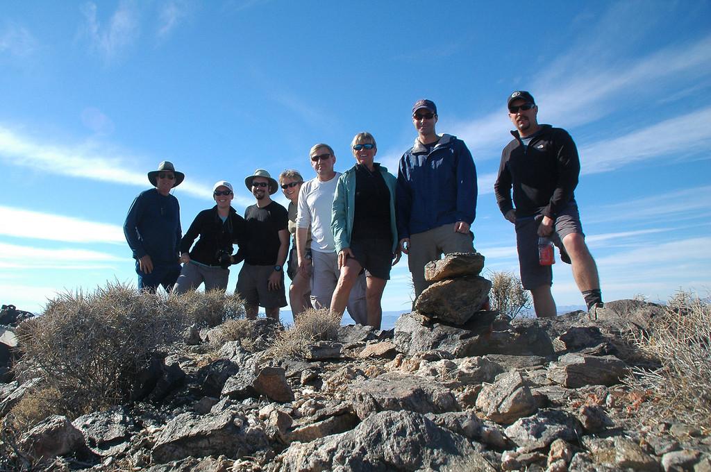 On Ibex Peak at 4,487 feet.