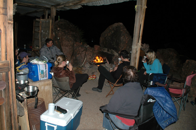 Hanging out at the cabin. When we got back, Rick and Corliss were there.