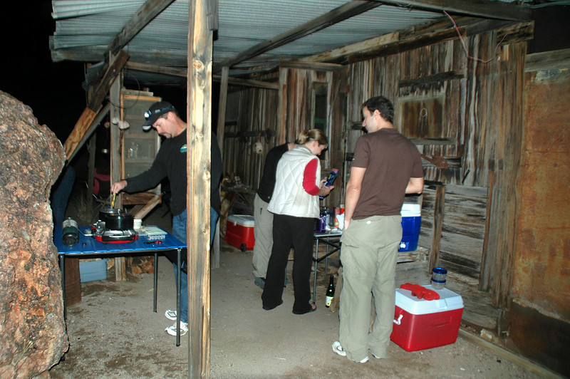 The group working on Thanksgiving dinner.