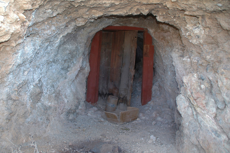 Entrance to one of the tunnels.