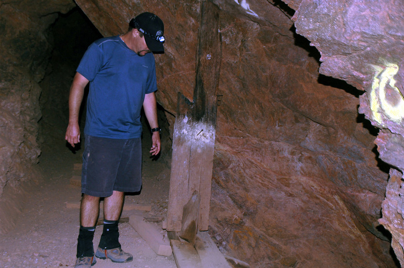 Chip looking down another shaft.
