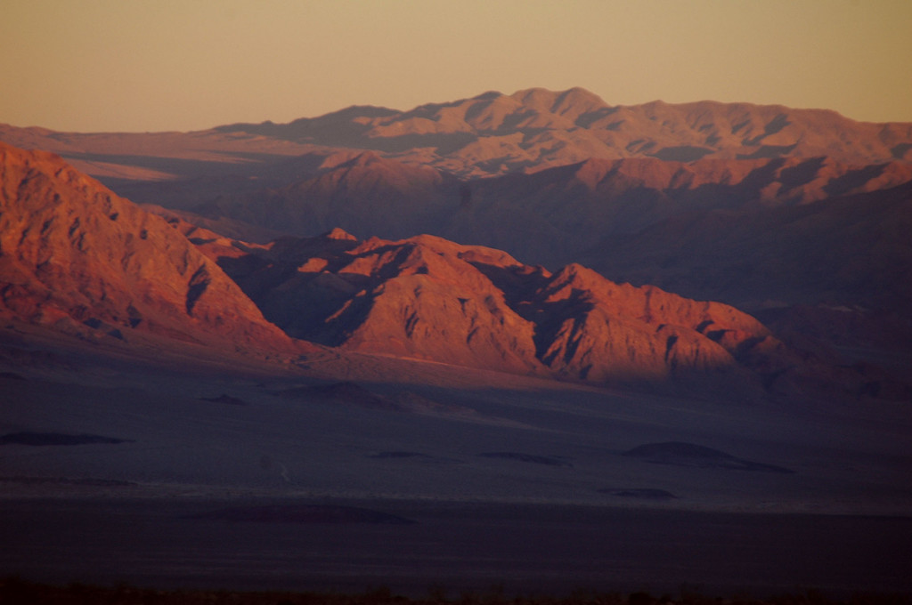 Last light in the valley as the sun set.
