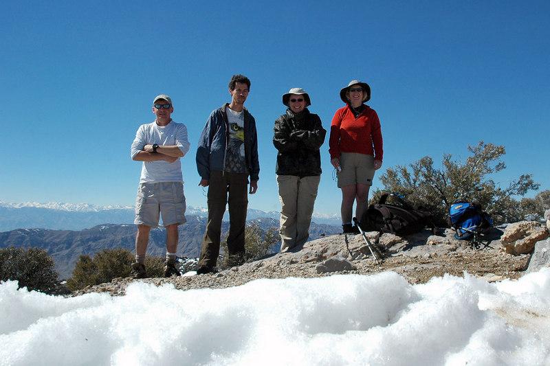 Joe (me), Jay, Alison and Kathy on Tin Mountain 8,953'.
