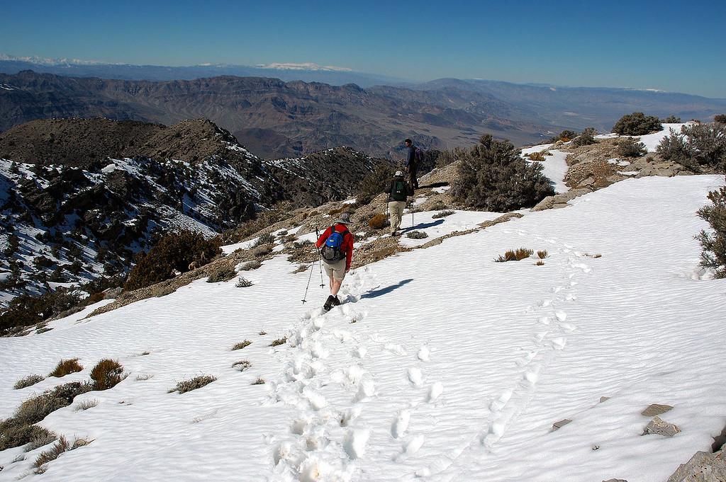 Starting down off the peak.
