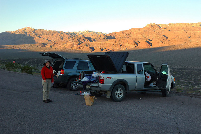 When I got to the crater parking lot at 6:15, Kathy and Jay were already there.