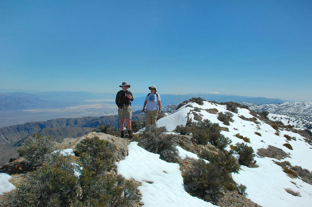 Kathy and Alison on the peak.