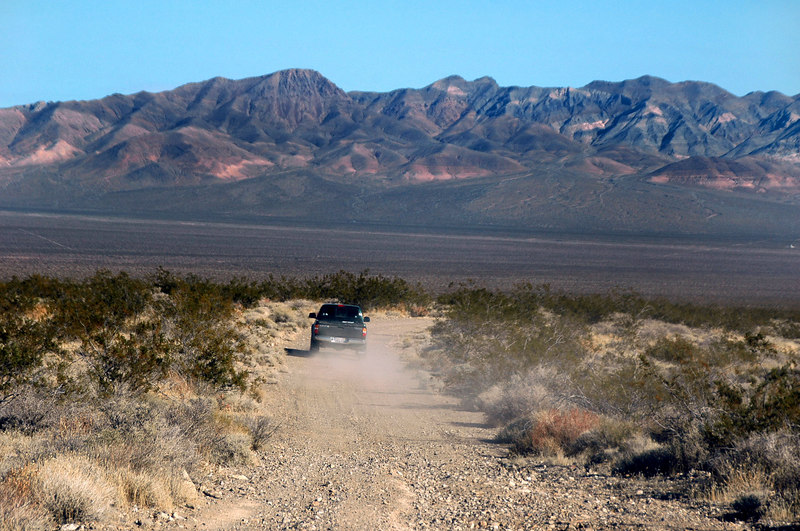 Instead of back tracking, we decided to drive into Nevada and take the highway back.