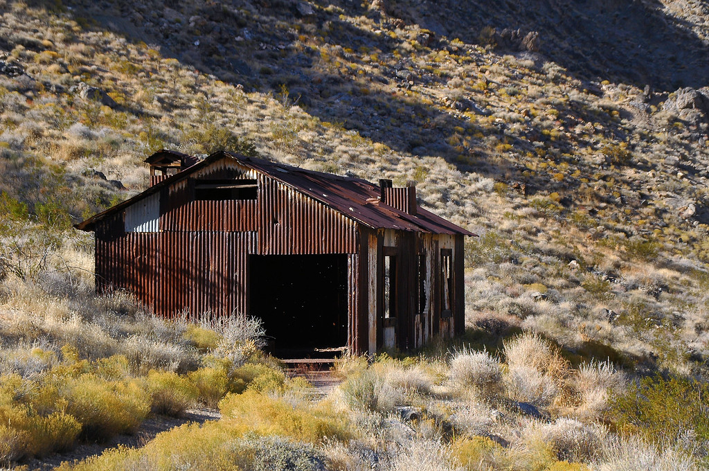 A shack at the mine site.