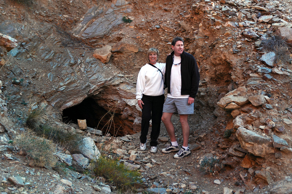 Sooz and John at the mine entrance.