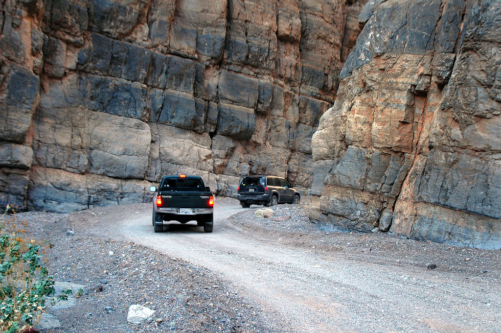 The narrows were the best part of the drive through the canyon.