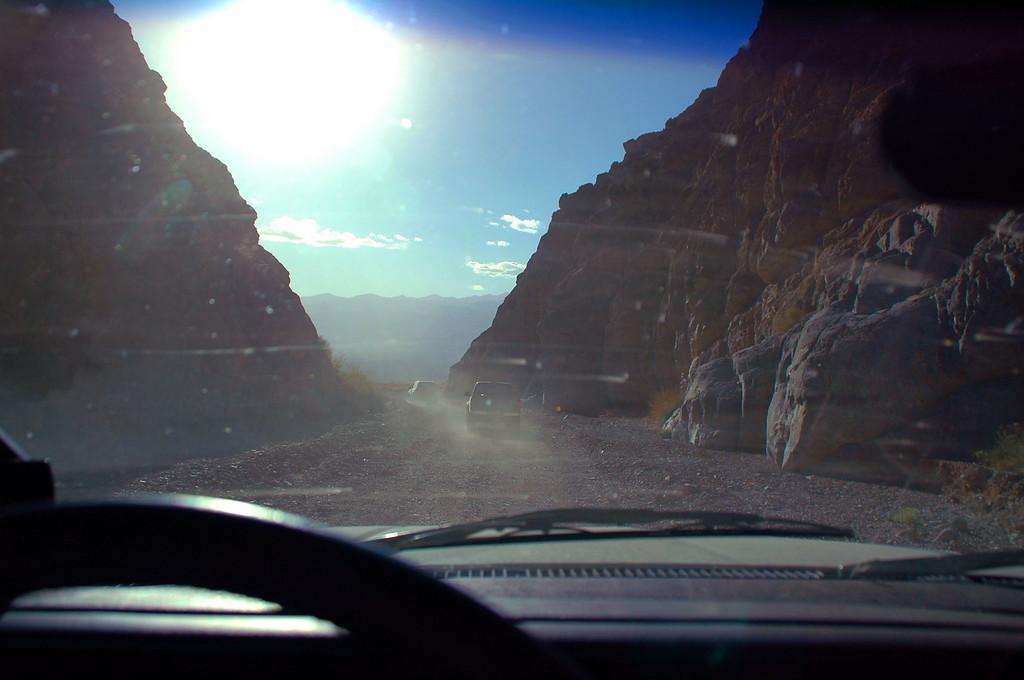 Exiting Titus Canyon. Driving through the narrows was fun.