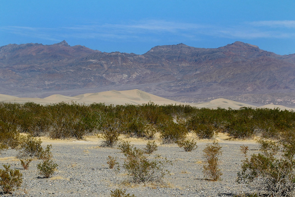 The Stovepipe Wells Sand Dunes with the Grapevine Mountains. Fun trip. <br /> <br /> THE END