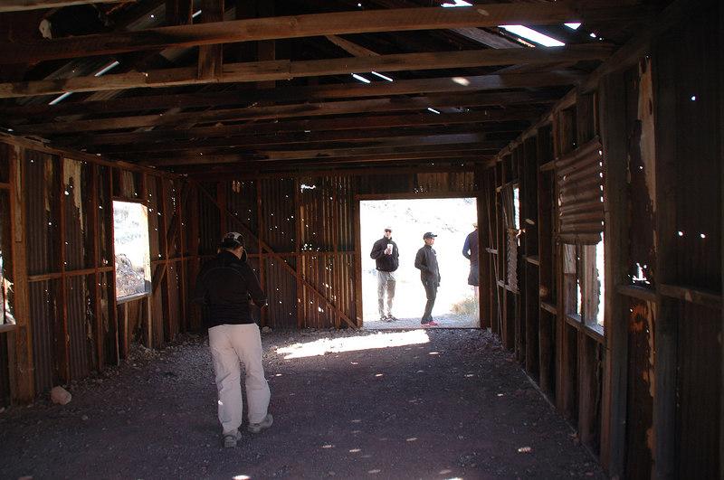 Inside the shack.