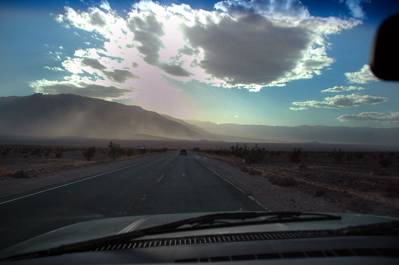 Dust and sand were still blowing at Stovepipe Wells. John, Sooz and myself headed to Stovepipe Wells for gas and some goodies before heading back to camp