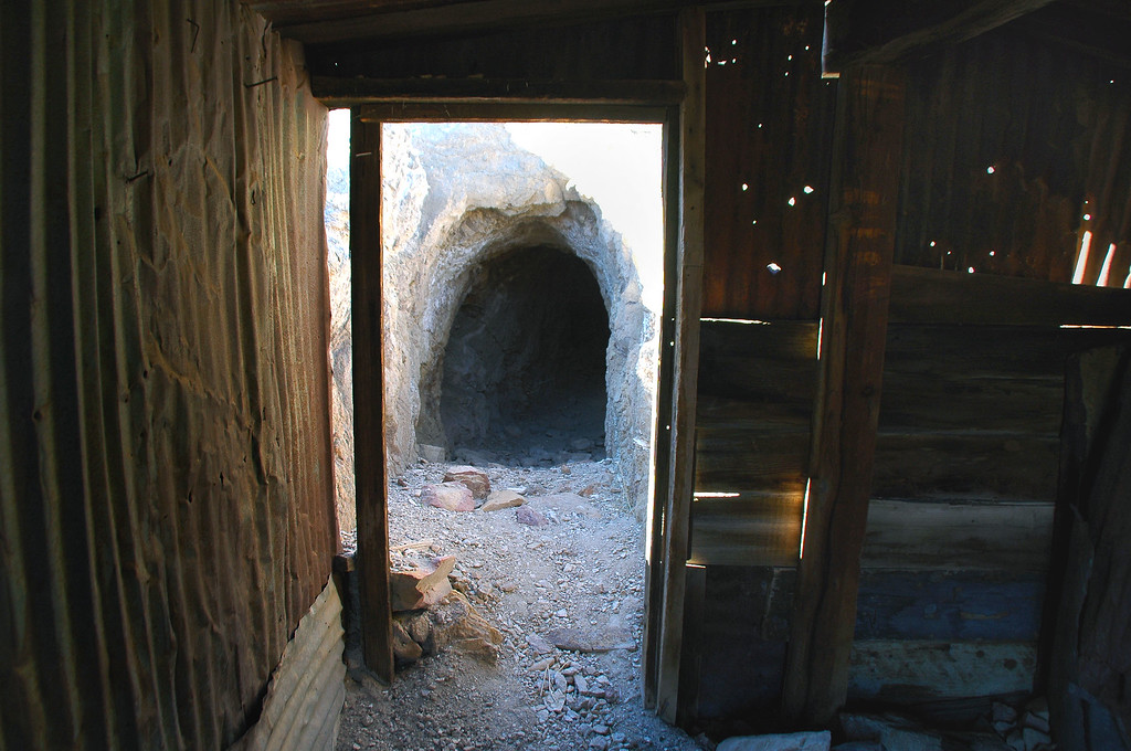 The mine at Chloride. It smelled like bleach in the tunnel.