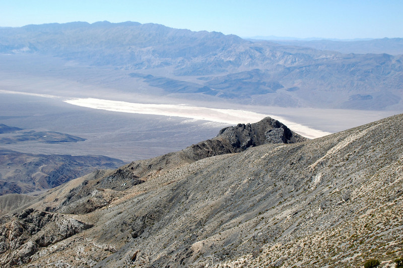 Zoomed in on the lakebed in the Panamint Valley.