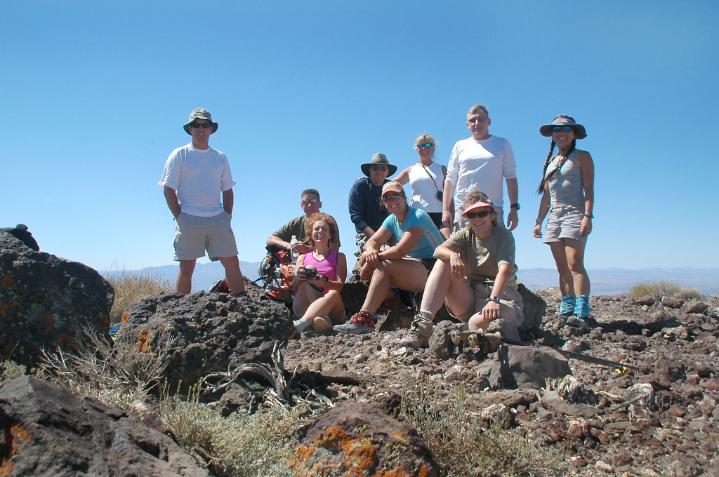 Group shot on Towne Peak at 7,287 feet.