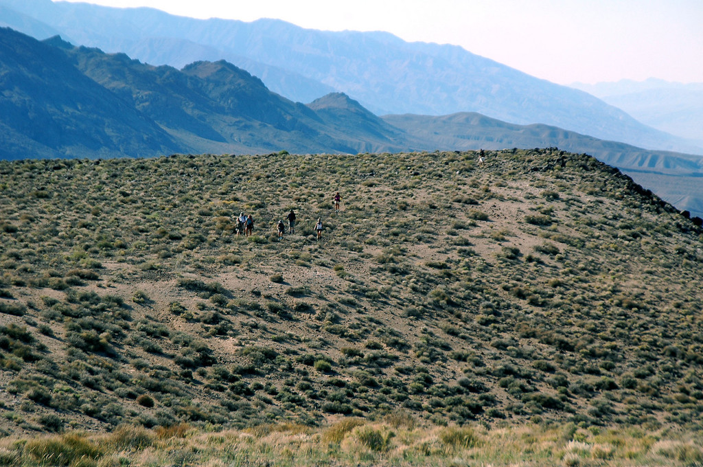 The group making their way up the ridge. I was moving slow, so I hiked ahead while they took a short break, I knew they would catch up to me.
