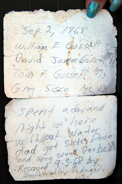 The note that TomG wrote 40 years ago is still in the peak register box.