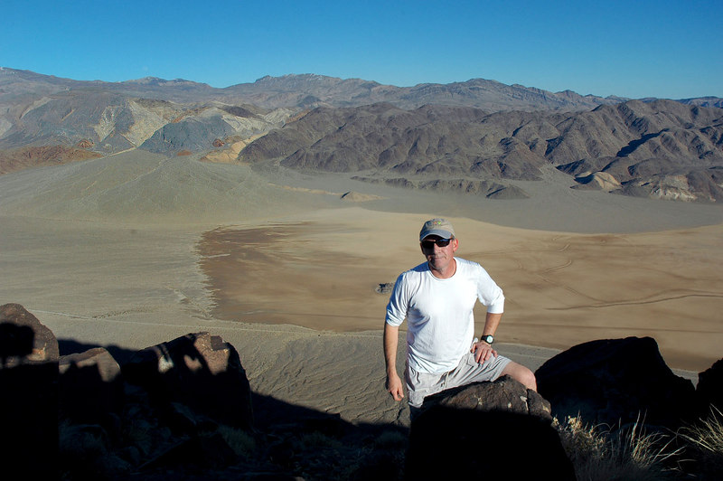 Me on the summit. I didn't stay long, was worried about finding a safer way down than I came up.