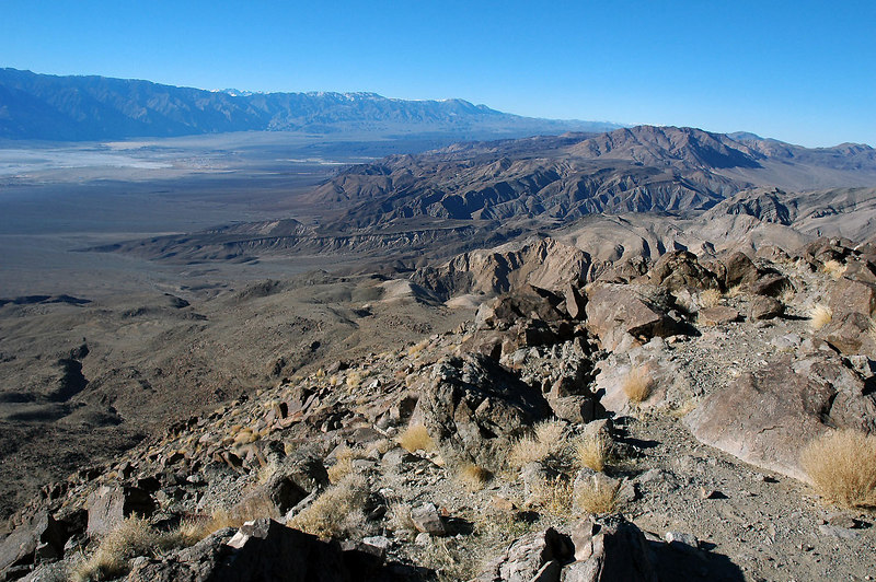 Looking to the northwest into the Saline Valley and the Inyo Mountains beyond.