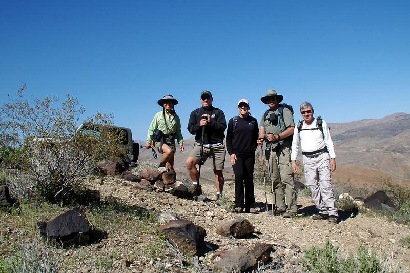 Cori, Rob, Agnes, Tom and Joe, me at the trailhead.