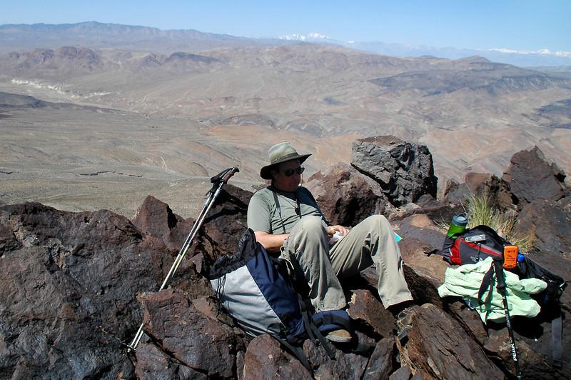 Tom reflexing on the peak.