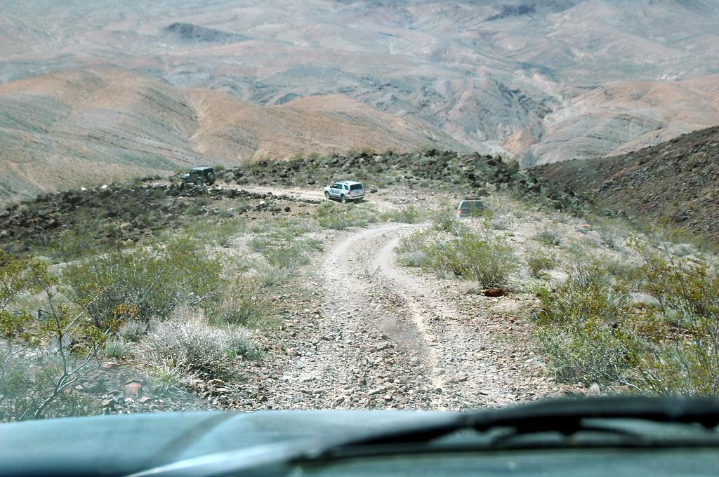 Driving back down to Darwin Canyon.