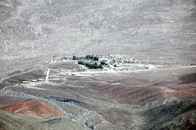 Zoomed in on the Panamint Valley Resort.
