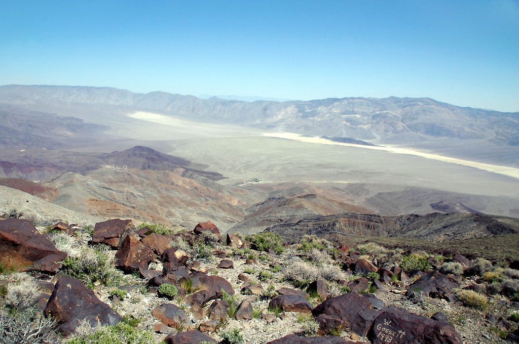 View of the northern end of the Panamint Valley. Panamint Valley Resort is in the center of the photo.
