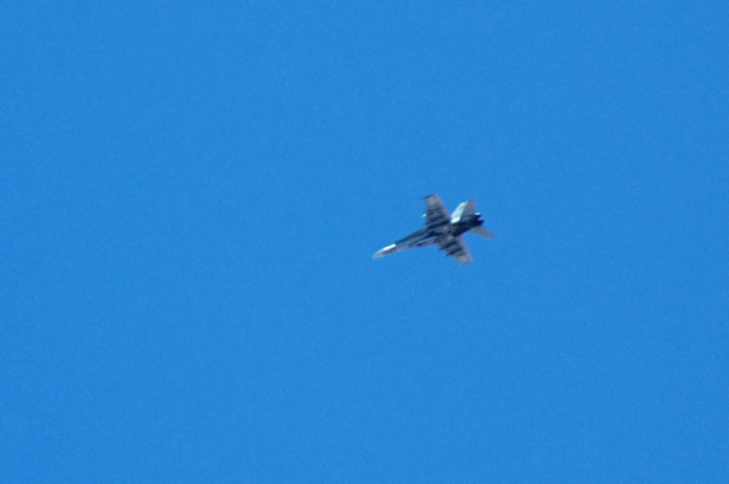 While we were on the peak, a F/A-18 flew over. Always enjoy seeing the jets in the Panamint Valley area.