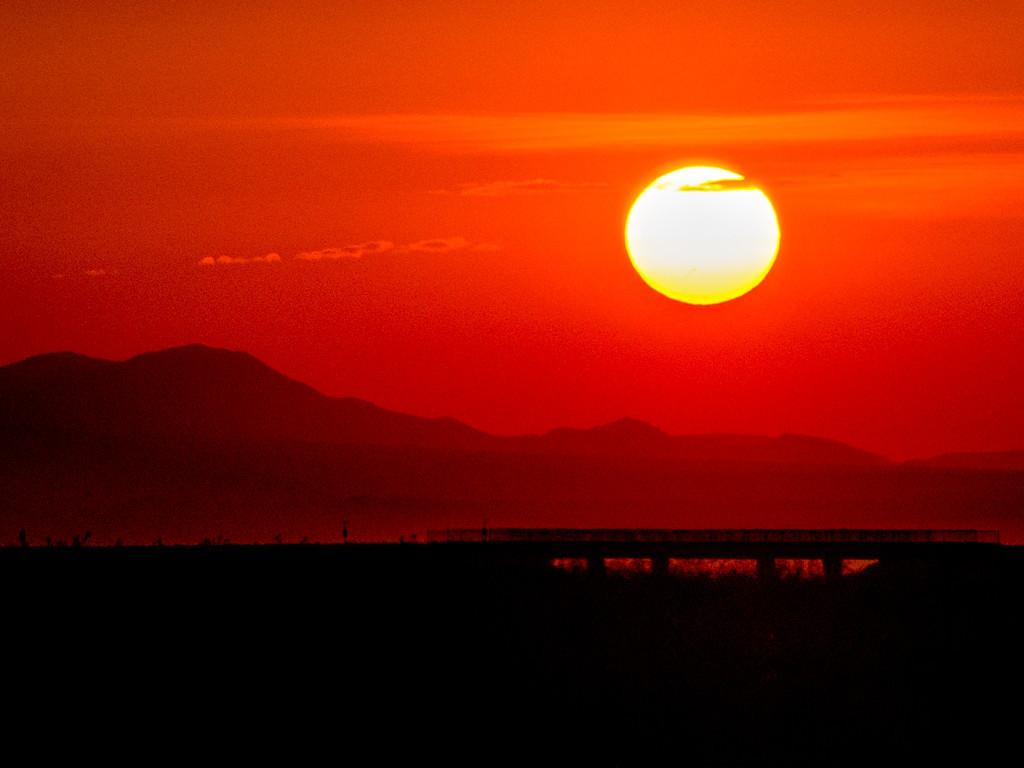 Sunrise over Inyokern, CA