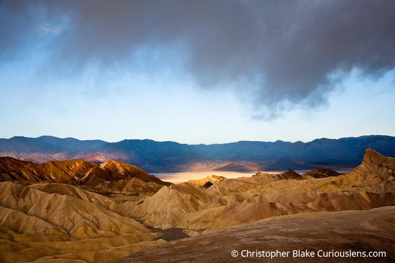 Zabriskie Point Death Valley Spot Light