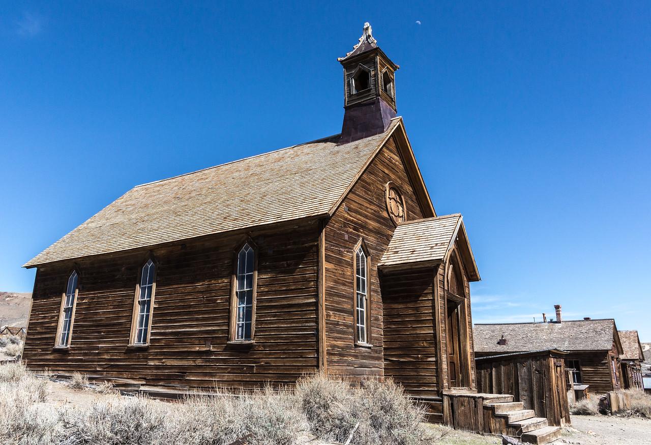 Bodie's Methodist Church, erected in 1882