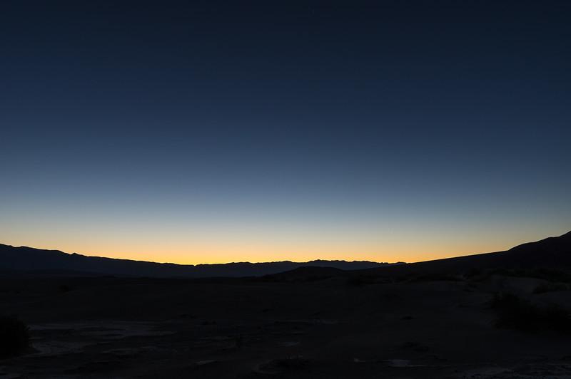 Pre-dawn at Mequite Flat Dunes