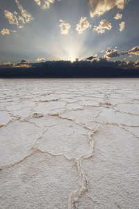Sun Beams, Badwater Salt Flats Death Valley National Park California