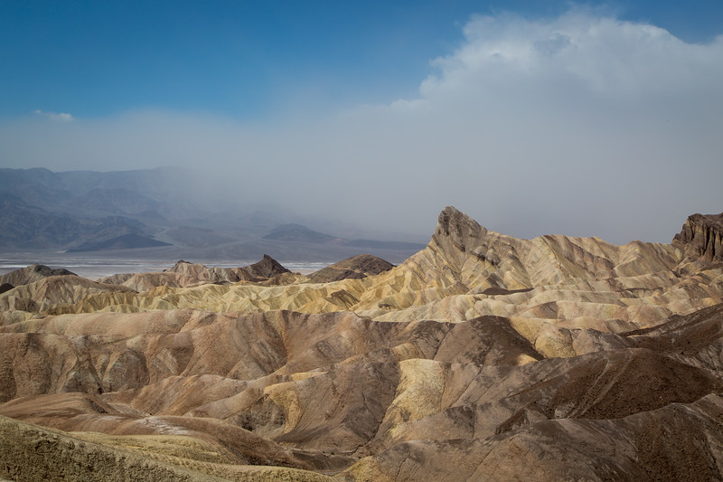 Sandstorm over Furnace Creek from Zabriskie Point